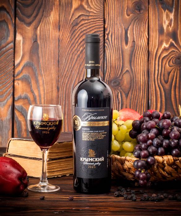 Вино - Крымское Эксклюзивное Мерло сухое