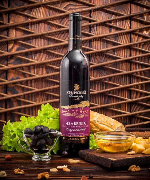 wine isabella semisweet - Изабелла Красное Полусладкое